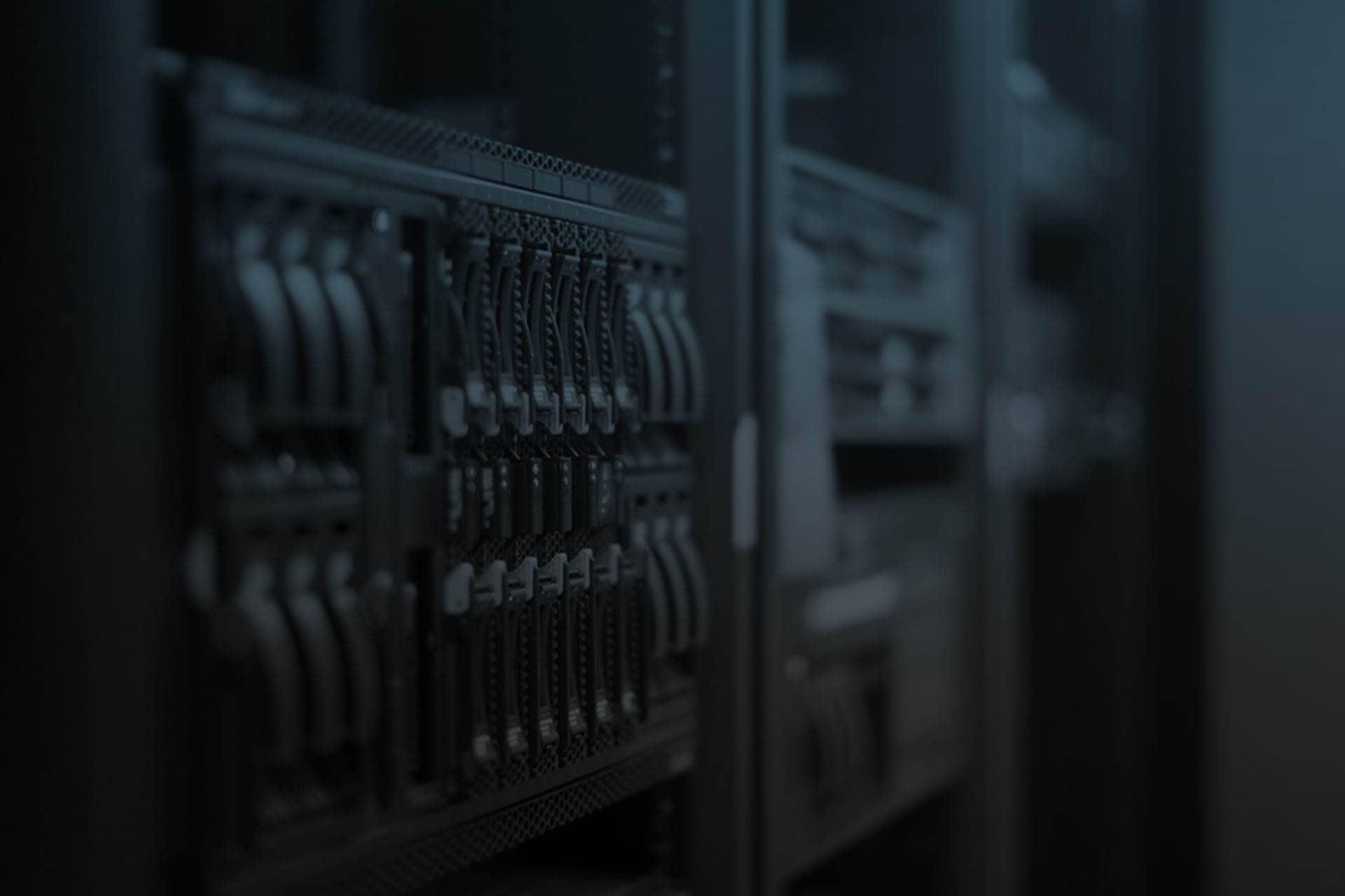 a macro shot of a computer server.